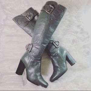 Chloe Boots Paddington Leather Knee High Sz EU 35
